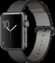 Apple Watch Series 2 - Boîtier en aluminium gris sidéral  avec Bracelet en nylon tissé - 42 mm - noir