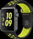Apple Watch Nike+ - Boîtier en aluminium gris sidéral avec Bracelet Sport Nike - 42 mm - noir/Volt