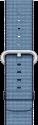 Apple 42 mm Armband aus gewebtem Nylon, Marineblau/Seeblau