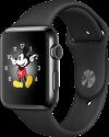 Apple Watch Series 2 - Edelstahlgehäuse, Space Schwarz mit Sportarmband - 42 mm - Schwarz