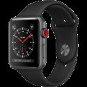 Apple Watch Series 3 - Smartwatch - GPS + Cellular - 42 mm - Grau/Schwarz
