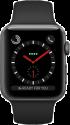 Apple Watch Series 3 - Boîtier en acier inoxydable noir sidéral avec Bracelet Sport - GPS + Cellular - 38 mm - Noir