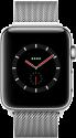 Apple Watch Series 3 - Boîtier en acier inoxydable avec Bracelet Milanais - GPS + Cellular - 38 mm - Argent