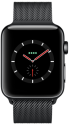 Apple Watch Series 3 - Edelstahlgehäuse Space Schwarz mit Milanaise Armband - GPS + Cellular - 38 mm - Space Schwarz