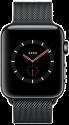 Apple Watch Series 3 - Edelstahlgehäuse Space Schwarz mit Milanaise Armband - GPS + Cellular - 42 mm - Space Schwarz