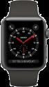 Apple Watch Series 3 - Aluminiumgehäuse, Space Grau, mit Sportarmband - GPS + Cellular - 42 mm - Grau