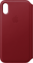 Apple Leder Folio - Rouge