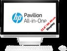 HP Pavilion 24-b114nz - Desktop PC - 23.8 / 60.45cm - Bianco
