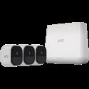 NETGEAR Arlo Pro VMS4330 - 3 videocamere + server - HD - Bianco