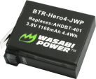 WASABI POWER Batterie pour GoPro HERO4