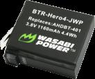 WASABI POWER Batteria per GoPro HERO4