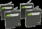 WASABI POWER Batteria per GoPro HERO5 Black - 4 pezzi