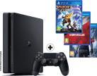 Sony PS4 Slim incl. 3 jeux - Console - 1 To HDD - noir