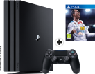 Sony Playstation 4 Pro + Fifa 18 - Console - 1 To - Noir
