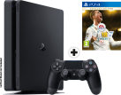 Sony PS4 Slim + FIFA 18 Ronaldo Edition - Konsole - 1 TB HDD - Schwarz - Multilingual