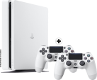 Sony PS4 Slim incl. 2. Manette - Console - 500 Go HDD - blanc
