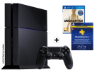 Sony PlayStation 4 500GB, schwarz + Uncharted: The Nathan Drake Collection + Playstation Plus Abonnement: 90 Tage
