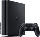 Sony PS4 Slim - Spielkonsole - 500 GB HDD - Schwarz + Horizon Zero Dawn, PS4, multilingual