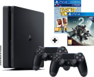 Sony PS4 Slim + Destiny 2 + That's you! (DLC) + Dualshock 4 Controller - Konsole - 1 TB HDD - Schwarz - Französisch