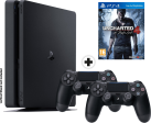 Sony PS4 Slim incl. 2. Controller + Uncharted 4 - Console - 1 TB HDD - nero
