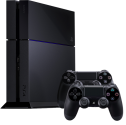 Sony PlayStation 4 1TB inkl. 2 Controller & Standfuss, schwarz