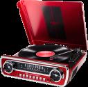 ION Mustang LP - Plattenspieler - 4-in-1 Retro-Musikanlage - Rot