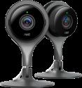 Nest Cam Indoor - Telecamera di sicurezza - HD - 2 pezzi - Nero