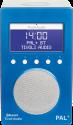 Tivoli Audio PAL+ BT, blau/weiss
