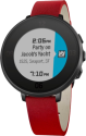Pebble Time Round 14mm, schwarz/rot