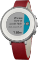Pebble Time Round 14mm, silber/rot