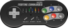 HORI SNES Wireless Fighting Commander - Per Super NES Classic Mini - Nero
