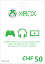 Microsoft Xbox Live Guthabenkarte CHF 50.-