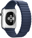 Apple 42mm Leather Loop, M , bleu nuit