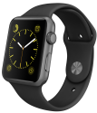 Apple Watch 42mm con cinturino Sport, nero