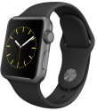 Apple Watch 38mm con cinturino Sport, nero