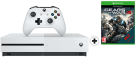 Microsoft Xbox One S + Gears Of War 4 (DLC) - 1TB - Weiss