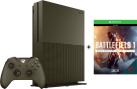 Microsoft Xbox One S Limited Edition + Battlefield 1 (DLC) - 1To - vert militaire