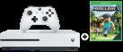 Microsoft Xbox One S + Minecraft (DLC) - 500Go - blanc