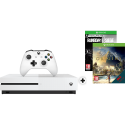 Microsoft Xbox One S + Assasins Creed DLC + Rainbow Six Siege DLC - 1 To - Blanc
