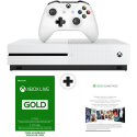 Microsoft Xbox One S - Console - 500 GB - Bianco + Xbox Live Gold (3 m.) + Xbox Game Pass (3 m.)