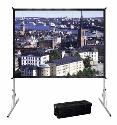 DA-LITE FastFold Deluxe HDTV Format, 16:9, 234 x 417 cm, mattweiss