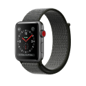 Apple Watch Series 3 - Aluminiumgehäuse, Space Grau, mit Sport Loop - GPS + Cellular - 38 mm - Dunkeloliv