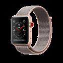 Apple Watch Series 3 - Boîtier en aluminium or avec Boucle Sport - GPS + Cellular - 38 mm - Rose des sables