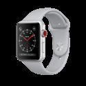Apple Watch Series 3 - Boîtier en aluminium argent avec Bracelet Sport - GPS + Cellular - 42 mm - Nuage