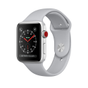 Apple Watch Series 3 - Aluminiumgehäuse, Silber, mit Sportarmband - GPS + Cellular - 42 mm - Nebel