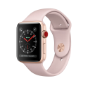 Apple Watch Series 3 - Boîtier en aluminium or avec Bracelet Sport - GPS + Cellular - 42 mm - Rose des sables