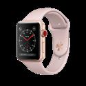 Apple Watch Series 3 - Aluminiumgehäuse, Gold, mit Sportarmband - GPS + Cellular - 42 mm - Sandrosa