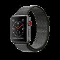 Apple Watch Series 3 - Aluminiumgehäuse, Space Grau, mit Sport Loop - GPS + Cellular - 42 mm - Dunkeloliv