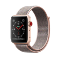 Apple Watch Series 3 - Aluminiumgehäuse, Gold, mit Sport Loop - GPS + Cellular - 42 mm - Sandrosa