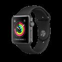Apple Watch Series 3 - Boîtier en aluminium gris sidéral avec Bracelet Sport - GPS - 42 mm - Noir